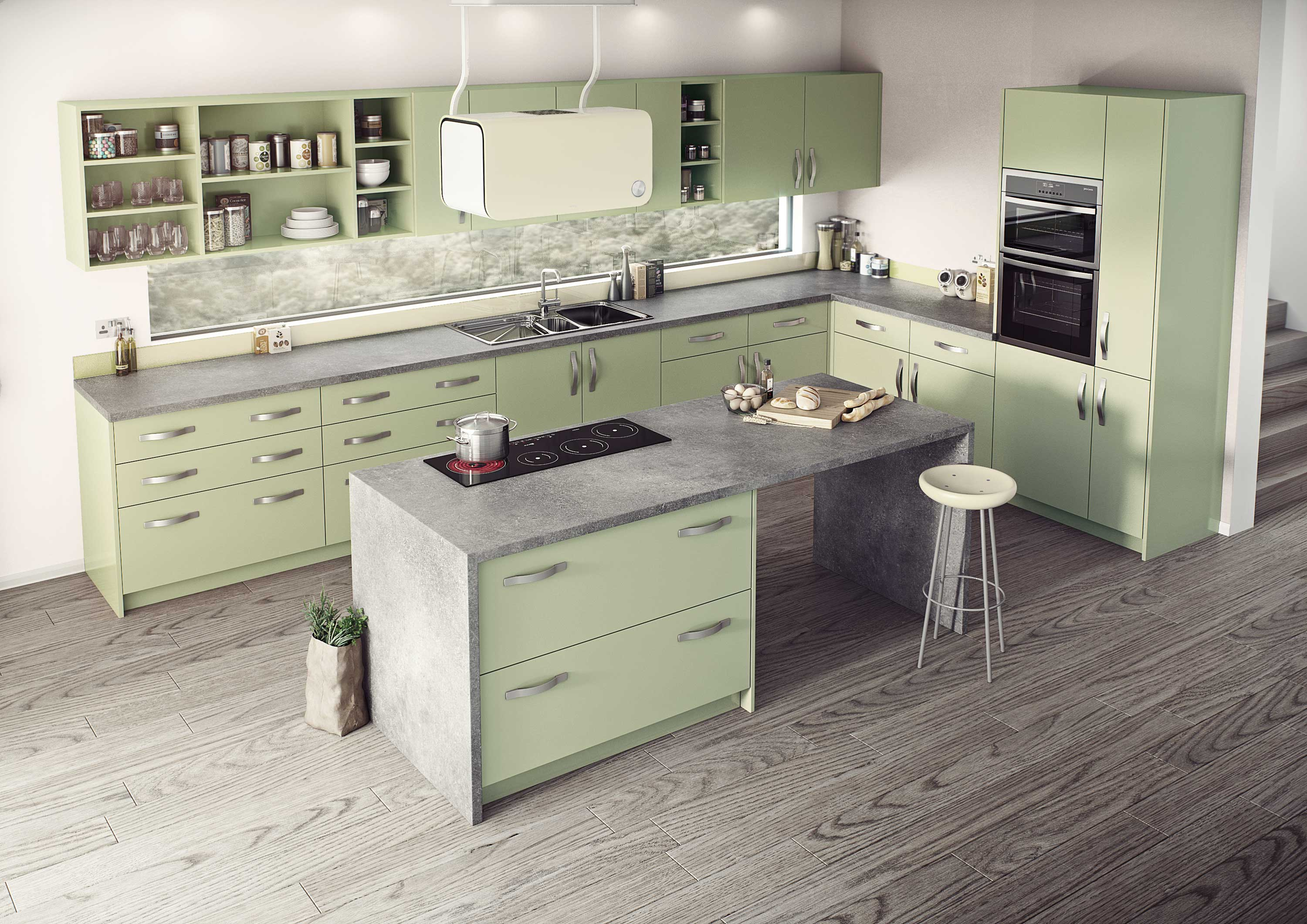 Vienna Painted Doors in Cooking Apple Green