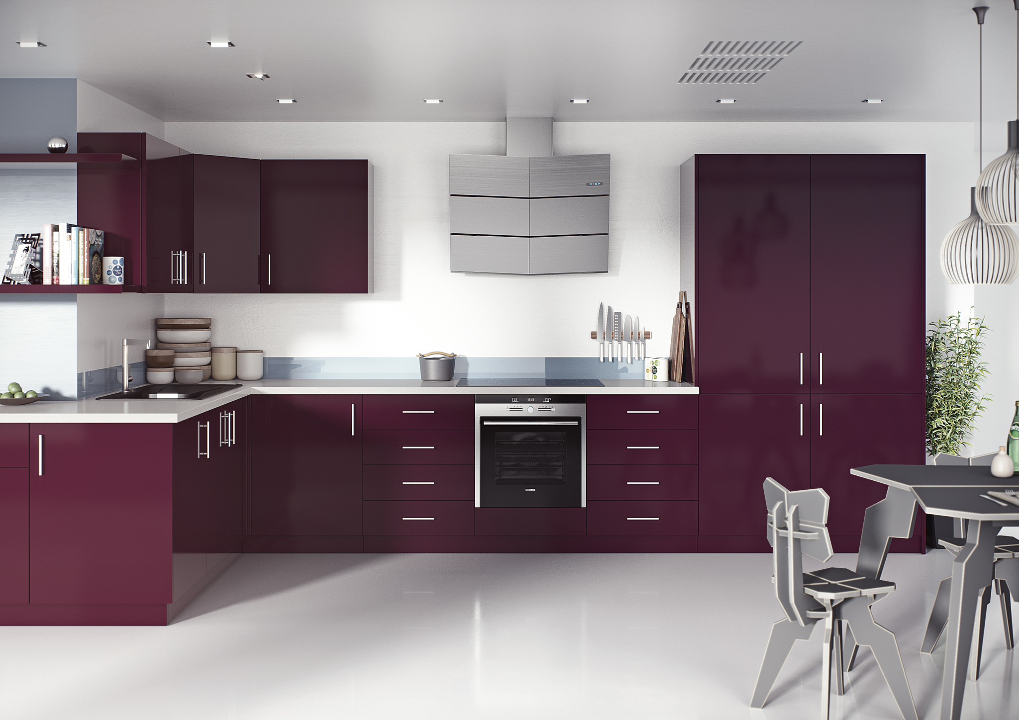 Violet / Aubergine Acrylic Gloss Kitchen