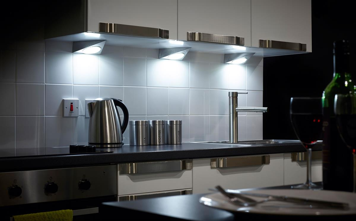 Sensio GX53 Trigon LED Triangle Under Cabinet Spot Lights