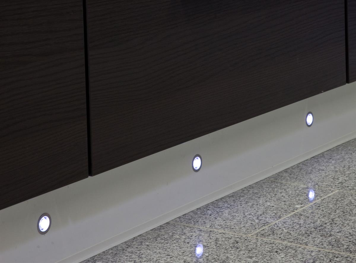 Sensio Cool White Nimbus LED Plinth Lights.